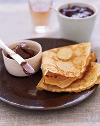 Brown-Butter Crêpes with Nutella and Jam // More Brunch Recipes: http://fandw.me/gvU #foodandwine