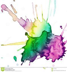 Abstract Hand Drawn Watercolor Blot Stock Photos - Image: 20056743
