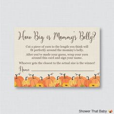 Pumpkin Baby Shower Printable Bring a Book Instead of a Card Invitation Insert - Little Pumpkin Baby Shower Stock Baby's Library Card - 0032 Baby Shower Fall, Fall Baby, Baby In Pumpkin, Little Pumpkin, Baby Shower Printables, Baby Shower Invitations, Shower Favors, Document Printing, Sweet Messages