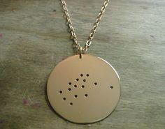 Aquarius Constellation Pendant Necklace. $45.00, via Etsy.