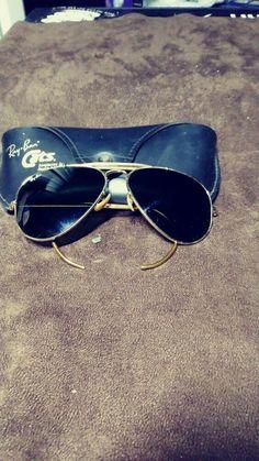 af2f41f6226 VINTAGE BL RAY BAN GOLD PLATED RB3 UV TRUGREEN UV OUTDOORSMAN AVIATOR  SUNGLASSES  fashion