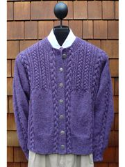Mari Sweaters - love these classic styles - This one is called Cables & Twists Cardigan Knit Pattern - available Annie's Attic $7.99