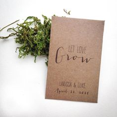 Rustic Personalized Seed Packet Wedding Favors by TheCrookedTwig, $1.25