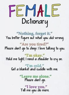 Every guy needs to look at this and memorize it for when there girlfriend says something like this to them
