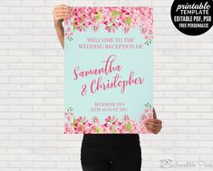 Mint and Pink Wedding Poster by Incredible Prints on @creativemarket