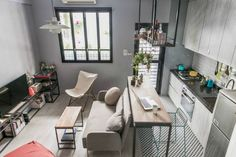Small Studio Apartment Layout Design Ideas – Home Design - Studio Apartment Studio Apartment Layout, Small Studio Apartments, Studio Apartment Decorating, Apartment Ideas, Apartment Therapy, Small Apartment Layout, Studio Layout, Apartment Furniture, Loft Bed Studio Apartment