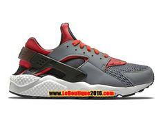 Nike Air Huarache GS Femme Chaussures NIke Pas Cher Gris/Rouge 318429-009G