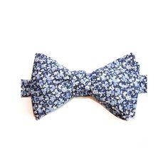 Noeud Papillon Liberty Bleu Pepper - Le Colonel Moutarde