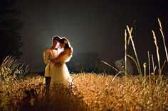 wedding photos at night