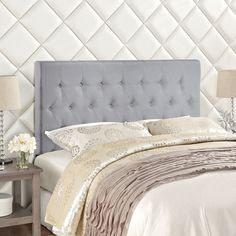 Modway Clique Queen Headboard in Sky Gray