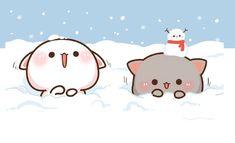 Cute Bear Drawings, Cute Animal Drawings Kawaii, Cute Cartoon Drawings, Cute Cartoon Pictures, Cute Love Pictures, Cute Images, Kawaii Cute Wallpapers, Kitten Wallpaper, Cute Cat Illustration