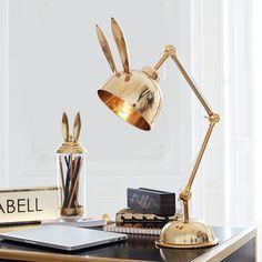 The Emily & Meritt Bunny Task Lamp – PB Teen, $135 (currently on sale)