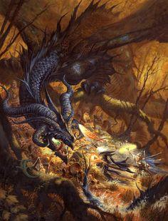Ralph Horsley art | Fantasy Art Friday: Dragon's Lair by Ralph Horsley