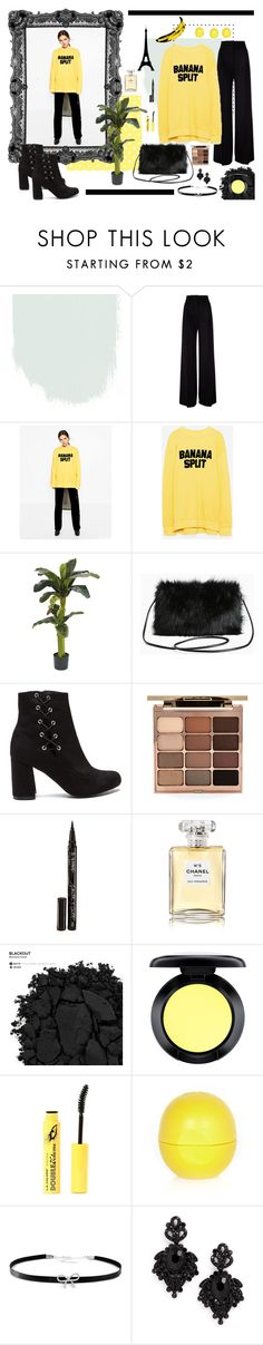 """""""Banana split"""" by sandraa-jwoww on Polyvore featuring MaxMara, Nearly Natural, Andy Warhol, Torrid, Stila, Smith & Cult, Chanel, Urban Decay, MAC Cosmetics and L.A. Colors"""