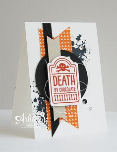 Sweet Hauntings, Gorgeous Grunge, Happy Haunting DSP, Black Glimmer Paper, Note Tag Punch, Circle Punches, Halloween -Inge Groot-