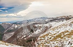 Photo about Winter landscape with snow on the ground and stormy clouds, Paltinis, Romania. Image of mountain, foreground, snow - 105037568 Mountain Landscape, Winter Landscape, Winter Snow, Romania, Clouds, Stock Photos, Mountains, Outdoor, Image