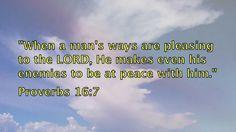 Scriptures against spiritual enemies- Part 2 Proverbs 16 7, Enemies, Scriptures, Channel, Spirituality, Lord, Peace, Videos, Youtube