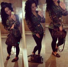 Camo jacket & leggings