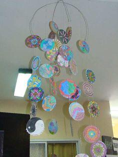 Mandalas para pintar mandala de los cinco reinos for Cd reciclados decoracion