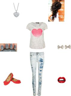 """""""hearts"""" by hannah-burling ❤ liked on Polyvore"""