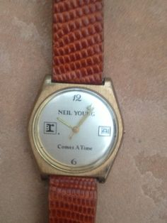 """Vintage & Rare Neil Young """"Comes A TIme"""" Wrist Watch Reprise Records.  When the music mattered!   by PaintItWhiteDecor, $35.00"""