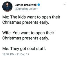 I, too, am more excited about my child's presents than she is.