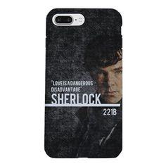 SHERLOCK Phone case iPhone 7 Plus Tough Case on CafePress.com  #cafepress #sherlock #phonecase #iphone #samsung