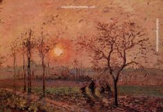 Camille Pissarro Sunset, 1872 painting free shipping, painting Authorized official website