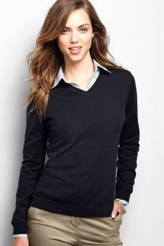 I LOVE a good v-neck sweater.  Would be nice in a different color than black.