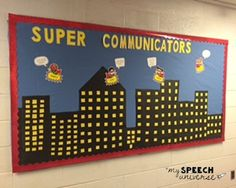 Check out this fun superhero themed bulletin board!