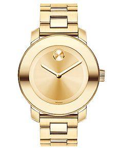 Movado Bold Medium Goldtone IP Stainless Steel Bracelet Watch