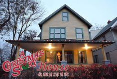 A Christmas Story House | Ralphie's actual house from A Christmas Story with the Leg Lamp in the window. Now restored to its movie splendor and open year round for public tours that feature original props and costumes from the movie. Located in Cleveland, Ohio.
