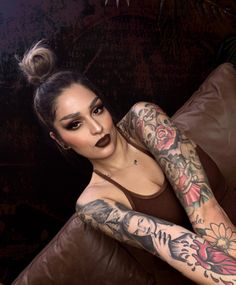 """Melt Cosmetics on Instagram: """"@lora_arellano blowing us away in XXX 💄 Lipstick with Double D's 💄 Lipstick in the center  #meltcosmetics #meltnoodsnoodsnoods #meltxxx…"""" Brown Lip, Melt Cosmetics, Lipstick, Tattoos, Face, Instagram, Lipsticks, Tatuajes, Tattoo"""