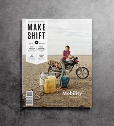 Make Shift Magazine Designed by Sants Serif                              …