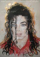 Michael Jackson by AlenaGalayko Michael Jackson Dibujo, Michael Jackson Dance, Michael Jackson Drawings, Anime Comics, Invincible Michael Jackson, Michael Art, Jackson's Art, Painting People, Painting Art