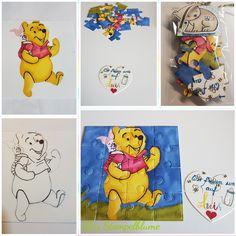 Stampinup, Puzzle, Handzeichnung. Ein Geschenk für meine Schwester, Baby Boy