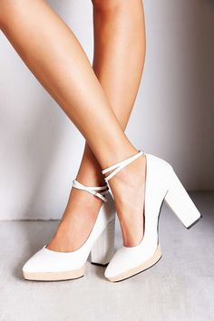 white heels... love these!