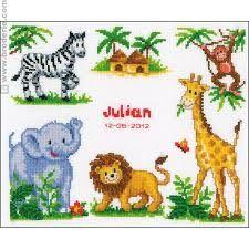 Risultati immagini per schemi punto croce animali africa