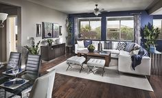 We LOVE this living space from @lennarlasvegas - especially those pillows!