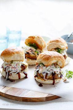 Teriyaki Turkey Burgers with Sesame Slaw | Recipe | Turkey Burgers ...