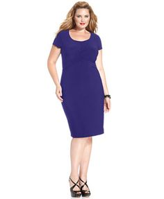 Love Squared Plus Size Cross-Front Bodycon Dress