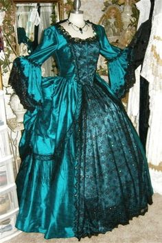 Gothic Marie Antoinette Peacock Fantasy Gown by RomanticThreads, $945.00