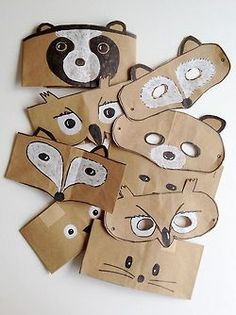 wasbella102:  DIY Paper bag animal mask project