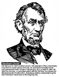 us president abraham lincoln coloring page
