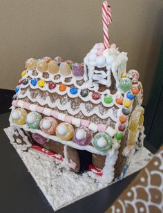 Gingerbread House fit for Hansel and Gretel made by patisserie students #Christmas