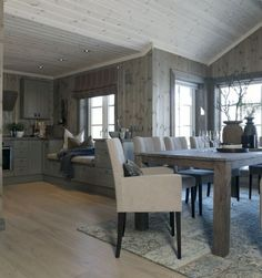 Cabin Homes, Log Homes, Küchen Design, House Design, Cottage Shabby Chic, Building A Cabin, Cabin Interiors, Interior Decorating, Interior Design
