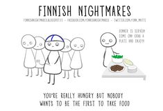 If you consider yourself an introvert then the Finnish artist Karoliina Korhonen totally understands you. By definition an introvert is someone who's shy and Finnish Memes, Meanwhile In Finland, Old Soul, Cheer Up, Funny Comics, Funny Photos, Laugh Out Loud, I Laughed, Nostalgia