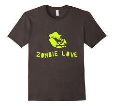 Men's Zombie Love Skeleton Lips Graphic T-Shirt 2XL Asphalt