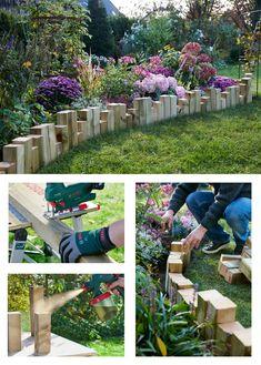 Backyard Garden Landscape, Small Backyard Gardens, Outdoor Gardens, Garden Edging, Garden Paths, Tropical Landscaping, Backyard Landscaping, Patio Deck Designs, Rock Garden Design