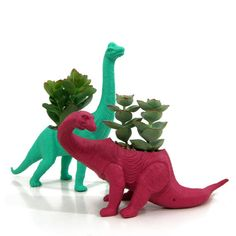 Vic the Velociraptor Planter & Succulent by PlaidPigeon on Etsy